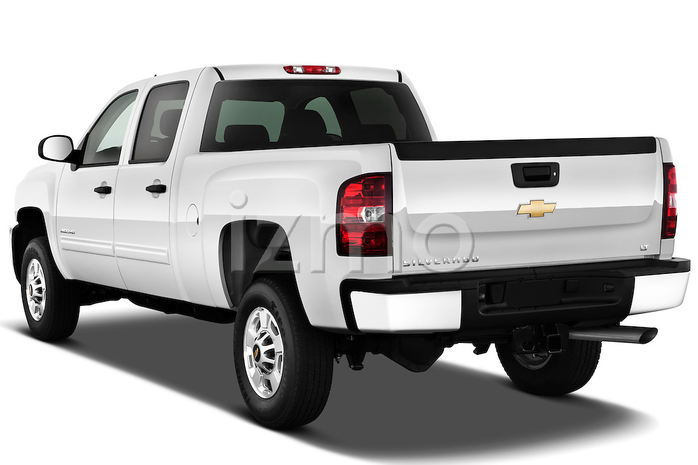 Rear three quarter view of a 2011 Chevrolet Silverado 2500LT Crew Cab