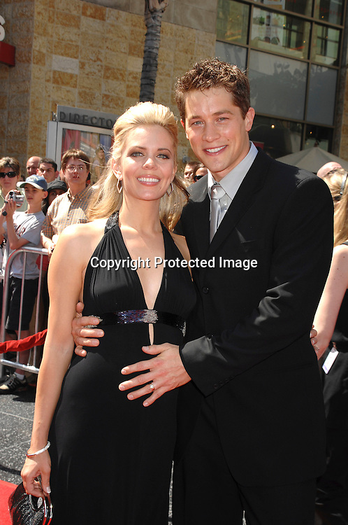 Jason Gerhardt and pregnant wife Chalae..arriving at The 34th Annual Daytime Emmy Awards on ..June 15, 2007 at The Kodak Theatre in Hollywood, California. ..Robin Platzer, Twin Images......212-935-0770