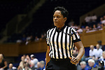 11 February 2016: Referee Rachelle Jones. The Duke University Blue Devils hosted the Florida State University Seminoles at Cameron Indoor Stadium in Durham, North Carolina in a 2015-16 NCAA Division I Women's Basketball game. Florida State won the game 69-53.