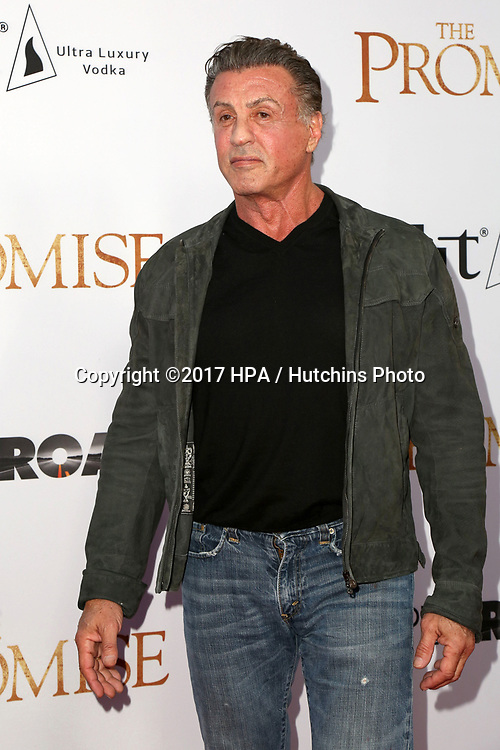 "LOS ANGELES - APR 12:  Sylvester Stallone at the ""The Promise"" Premiere at the TCL Chinese Theater IMAX on April 12, 2017 in Los Angeles, CA"