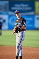 Carson Maxwell (24) of the Missoula Osprey during the game against the Ogden Raptors at Lindquist Field on August 12, 2019 in Ogden, Utah. The Raptors defeated the Osprey 4-3. (Stephen Smith/Four Seam Images)