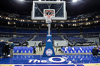 16.01.2013 London, England. The purpose built court ahead of the NBA London Live 2013 game between the Detroit Pistons and the New York Knicks from The O2 Arena