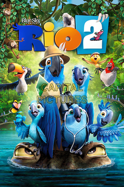 POSTER ART<br /> in Rio 2 (2014) <br /> *Filmstill - Editorial Use Only*<br /> CAP/NFS<br /> Image supplied by Capital Pictures