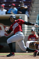 September 1 2008: Carlos Trifunel of the High Desert Mavericks bats against the Lake Elsinore Storm at The Diamond in Lake Elsinore,CA.  Photo by Larry Goren/Four Seam Images