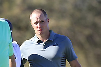 Alex Noren (SWE) finishes on the 9th green during Saturday's Round 3 of the Waste Management Phoenix Open 2018 held on the TPC Scottsdale Stadium Course, Scottsdale, Arizona, USA. 3rd February 2018.<br /> Picture: Eoin Clarke | Golffile<br /> <br /> <br /> All photos usage must carry mandatory copyright credit (&copy; Golffile | Eoin Clarke)