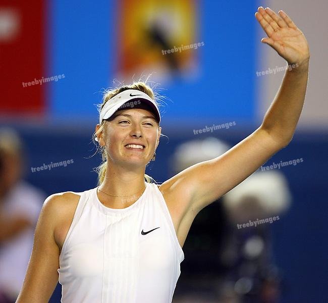 Maria Sharapova defeated Jelena Jankovic in the Semi finals of the  Australian Open Tennis 24-1- 2008