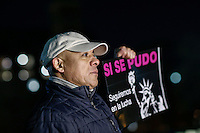 A man takes part in a meeting to celebrate the executive action on immigration policy announced by US President Obama, in New York.  10.21.2014. Eduardo MunozAlvarez/VIEWpres