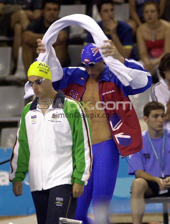 Pix: Matthew Lewis/SWpix.com. Swimming. 10th Fina World Championships 2003, Barcelona. 20/07/2003...COPYRIGHT PICTURE>>SIMON WILKINSON>>01943 436649>>..Great Britain's Mark Foster.