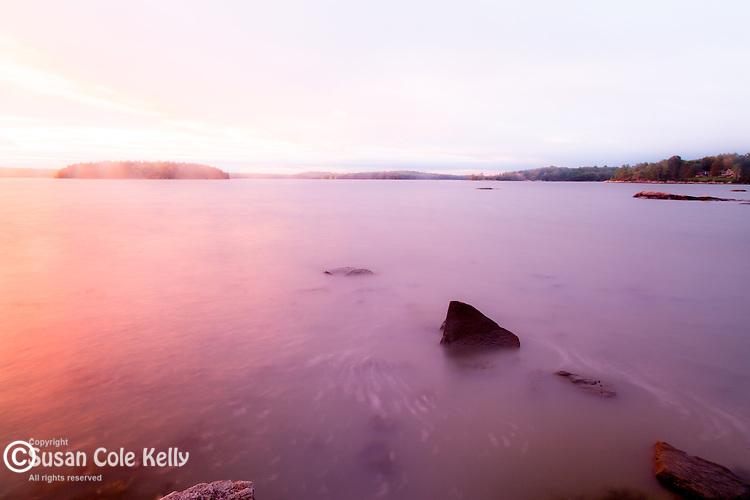 Sunset on Taunton Bay in Hancock County, Maine, USA