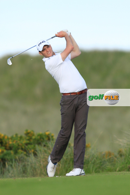 Shane McGlynn (Carton House) on the 7th tee during Round 1 of the East of Ireland in the Co. Louth Golf Club at Baltray on Saturday 31th May 2014.<br /> Picture:  Thos Caffrey / www.golffile.ie