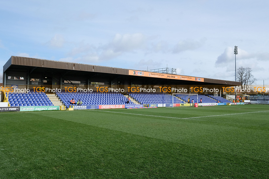 General view of the ground ahead of  AFC Wimbledon vs Burton Albion, Sky Bet EFL League 1 Football at the Cherry Red Records Stadium on 9th February 2019