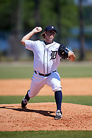 Detroit Tigers pitcher Burris Warner (28) during a Minor League Spring Training game against the Atlanta Braves on March 22, 2018 at the TigerTown Complex in Lakeland, Florida.  (Mike Janes/Four Seam Images)