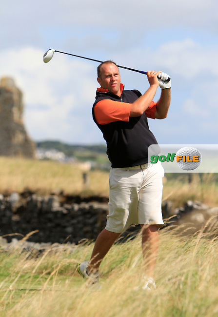 Ben Best (Rathmore) on the 17th tee during the South of Ireland Amateur Open Championship 5th Round at Lahinch Golf Club  30th July 2013 <br /> Picture:  Thos Caffrey / www.golffile.ie