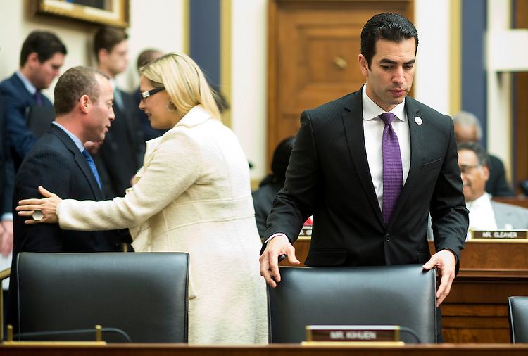 UNITED STATES - FEBRUARY 2: Rep. Ruben Kihuen, D-Nev., takes his seat for the first time as a member of  the House Financial Services Committee during the committee meeting to organize for the 115th Congress on Thursday, Feb. 2, 2017. (Photo By Bill Clark/CQ Roll Call)