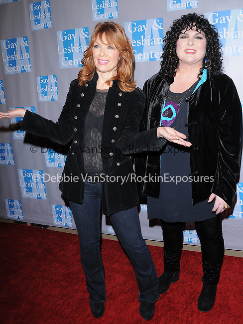 Nancy Wilson & Ann Wilson of Heart at the L.A. Gay & Lesbian Center's An Evening with Women Celebrating Art, Music & Equality held at The Beverly Hilton Hotel in Beverly Hills, California on May 01,2010                                                                   Copyright 2010  DVS / RockinExposures