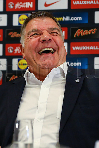 25.07.2016, Hilton Hotel, Burton upon Trent, England. Sam Allardyce during The FA press conference   to introduce him as the latest England  national football team manager