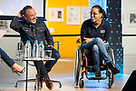 Javier Gutierrez and paralympic swimmer Teresa Perales during the presentation of the new Javier Fesser short film &quot;Servicio Tecnico&quot;,in Madrid, March 15, 2016<br /> (ALTERPHOTOS/BorjaB.Hojas)