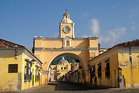 The Arco de Santa Catarina or Arch of Saint Catherine in Antigua, Guatemala. Antigua is a UNESCO World heritage site...