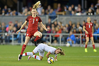 San Jose, CA - Sunday November 12, 2017: Samantha Mewis during an International friendly match between the Women's National teams of the United States (USA) and Canada (CAN) at Avaya Stadium.