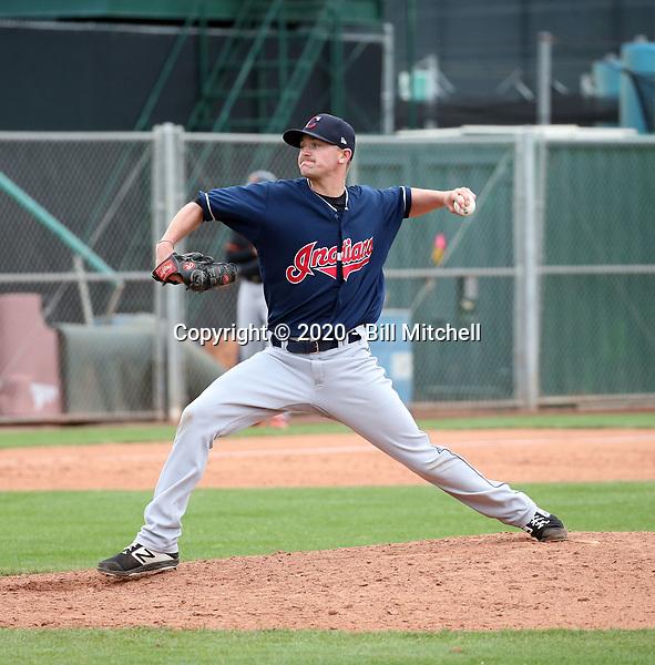 Ben Krauth - Cleveland Indians 2020 spring training (Bill Mitchell)