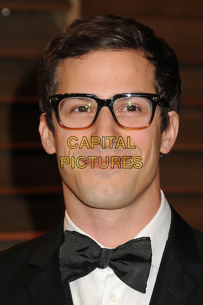 02 March 2014 - West Hollywood, California - Andy Samberg. 2014 Vanity Fair Oscar Party following the 86th Academy Awards held at Sunset Plaza. <br /> CAP/ADM/BP<br /> &copy;Byron Purvis/AdMedia/Capital Pictures