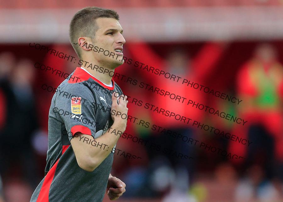 Fudbal Jelen Super League season 2014-2015 <br /> Donji Srem v Crvena Zvezda<br /> Darko Lazovic celebrates the goal<br /> Novi Sad, 29.04.2015.<br /> foto: Srdjan Stevanovic/Starsportphoto&copy;