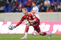 New York Red Bulls goalkeeper Greg Sutton (24). The New York Red Bulls defeated the New England Revolution 3-0 during a U. S. Open Cup qualifier round match at Red Bull Arena in Harrison, NJ, on May 12, 2010.