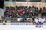 Stockholm 2014-11-14 Bandy Elitserien Hammarby IF - Edsbyns IF :  <br /> Vy &ouml;ver Zinkensdamms IP under matchen mellan Hammarby IF och Edsbyns IF med Edsbyns supportrar p&aring; l&auml;ktaren<br /> (Foto: Kenta J&ouml;nsson) Nyckelord:  Elitserien Bandy Zinkensdamms IP Zinkensdamm Zinken Hammarby Bajen HIF HeIF Edsbyn EIF Byn utomhus exteri&ouml;r exterior supporter fans publik supporters