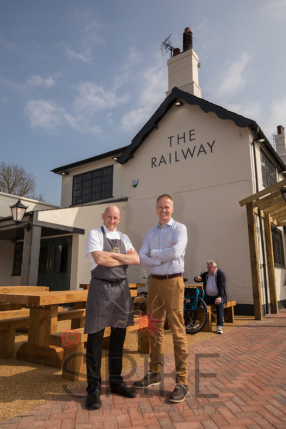 Mark Osborne (left) and David Hage of The Railway, Lowdham, Nottingham