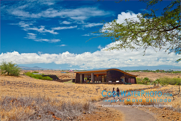 visitor center, Puukohola Heiau National Historic Site, Kawaihae, Kohala, Big Island, Hawaii, USA, Model Released - MR#: 000102, 000103
