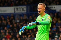 Alex Bass of Portsmouth during Portsmouth vs Gillingham, Sky Bet EFL League 1 Football at Fratton Park on 12th October 2019