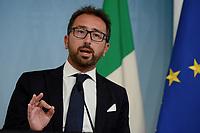 Roma, 6 Settembre 2018<br /> Alfonso Bonafede<br /> Palazzo Chigi<br /> Conferenza stampa su Decreto Anti Corruzione
