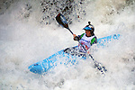 November 5, 2016 - Hendersonville, North Carolina, U.S. -  Women's champion, Adriene Levknecht, drops into the Scream Machine Rapids during the 21st annual Green Race.The Green River Narrows provides one of the most intense and extreme whitewater venues in the world and is home to many of the USA's most talented paddlers.  Green River Narrows, Hendersonville, North Carolina.
