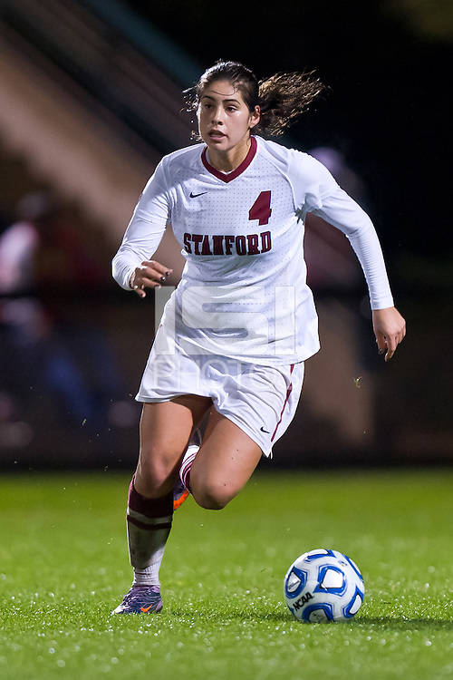 STANFORD, CA - NOVEMBER 18: Stanford defeats South Carolina 2-0 in the second round of the NCAA women's soccer tournament in Stanford, California.