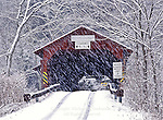 Snowstorm at Hillsgrove/Rinkers Covered Bridge, Sullivan Country, Pennsylvania
