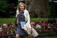 Justine Greening MP (Secretary of State for Education, Minister for Women and Equalities).<br /> <br /> London, 12/06/2017. Today, Theresa May's reshuffled Cabinet met at 10 Downing Street after the General Election of the 8 June 2017. Philip Hammond MP - not present in the photos - was confirmed as Chancellor of the Exchequer. <br /> After 5 years of the Coalition Government (Conservatives &amp; Liberal Democrats) led by the Conservative Party leader David Cameron, and one year of David Cameron's Government (Who resigned after the Brexit victory at the EU Referendum held in 2016), British people voted in the following way: the Conservative Party gained 318 seats (42.4% - 13,667,213 votes &ndash; 12 seats less than 2015), Labour Party 262 seats (40,0% - 12,874,985 votes &ndash; 30 seats more then 2015); Scottish National Party, SNP 35 seats (3,0% - 977,569 votes &ndash; 21 seats less than 2015); Liberal Democrats 12 seats (7,4% - 2,371,772 votes &ndash; 4 seats more than 2015); Democratic Unionist Party 10 seats (0,9% - 292,316 votes &ndash; 2 seats more than 2015); Sinn Fein 7 seats (0,8% - 238,915 votes &ndash; 3 seats more than 2015); Plaid Cymru 4 seats (0,5% - 164,466 votes &ndash; 1 seat more than 2015); Green Party 1 seat (1,6% - 525,371votes &ndash; Same seat of 2015); UKIP 0 seat (1.8% - 593,852 votes); others 1 seat. <br /> The definitive turn out of the election was 68.7%, 2% higher than the 2015.<br /> <br /> For more info about the election result click here: http://bbc.in/2qVyNRd &amp; http://bit.ly/2s9ob51<br /> <br /> For more info about the Cabinet Ministers click here: https://goo.gl/wmRYRd
