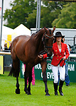 30th August 2017. Dee Hankey (GBR) riding Chequers Playboy during the First Horse Inspection of the 2017 Burghley Horse Trials, Stamford, United Kingdom. Jonathan Clarke/JPC Images