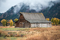 T. A. took over 30 years to build his gable-with-shed style barn. Photographers from around the world stop by T. A. Moulton's barn to capture this iconic historic structure with the Teton Range in the background.