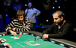 Jason Mercier and Matt Glantz go heads up in a showdown.  Glantz was eliminated.
