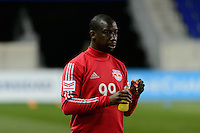 Harrison, NJ - Wednesday Feb. 22, 2017: Bradley Wright-Phillips prior to a Scotiabank CONCACAF Champions League quarterfinal match between the New York Red Bulls and the Vancouver Whitecaps FC at Red Bull Arena.