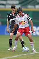 New York Red Bulls midfielder Claudio Reyna shields the ball against DC United defender Joshua Gros (17). DC United defeated the New York Red Bulls, 4-2, at RFK Stadium in Washington DC, Sunday, June 10 , 2007.