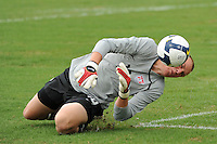 USA goalkeeper Cody Cropper (18) makes a save. The US U-17 defeated the Academy Select team 3-1 during day one of the US Soccer Development Academy  Spring Showcase in Sarasota, FL, on May 22, 2009.