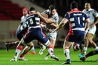 Nathan Catt of Bath Rugby takes on the Bristol Rugby defence. European Rugby Challenge Cup match, between Bristol Rugby and Bath Rugby on January 13, 2017 at Ashton Gate Stadium in Bristol, England. Photo by: Patrick Khachfe / Onside ImagesChallenge Cup.