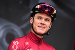 Chris Froome (GBR) Team Ineos on stage at the team presentation before Stage 1 of the Criterium du Dauphine 2019, running 142km from Aurillac to Jussac, France. 9th June 2019<br /> Picture: ASO/Alex Broadway | Cyclefile<br /> All photos usage must carry mandatory copyright credit (© Cyclefile | ASO/Alex Broadway)