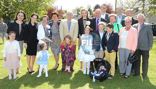 Anna Hanratty with her family on first communion day in Julianstown.
