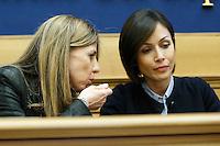Fabrizia Giuliani e Mara Carfagna<br /> Roma 10-03-2015 Sala Stampa Camera. Conferenza stampa dal titolo Essere donne ai tempi della crisi contro le discriminazioni sulle donne.<br /> Photo Samantha Zucchi Insidefoto