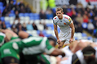 Gareth Steenson of Exeter Chiefs watches a scrum. Aviva Premiership match, between London Irish and Exeter Chiefs on February 21, 2016 at the Madejski Stadium in Reading, England. Photo by: Patrick Khachfe / JMP