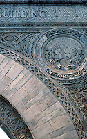 Louis Sullivan: Chicago Stock Exchange. Detail--Arch.  Photo '88.