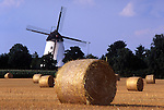 Europe, DEU, Germany, Northrhine Westphalia, Lower Rhine, Rheinberg, Grainfield after the harvest, Windmill, Buentener Muehle....[ For each utilisation of my images my General Terms and Conditions are mandatory. Usage only against use message and proof. Download of my General Terms and Conditions under http://www.image-box.com or ask for sending. A clearance before usage is necessary...Material is subject to royalties. Each utilisation of my images is subject to a fee in accordance to the present valid MFM-List...Contact | archive@image-box.com | www.image-box.com ]