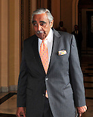 United States Representative Charlie Rangel (Democrat of New York) walks through the Will Rogers Corridor just outside the U.S. House Chamber to speak to reporters in in the U.S. Capitol in Washington, D.C. on Tuesday, July 27, 2010..Credit: Ron Sachs / CNP.(RESTRICTION: NO New York or New Jersey Newspapers or newspapers within a 75 mile radius of New York City)